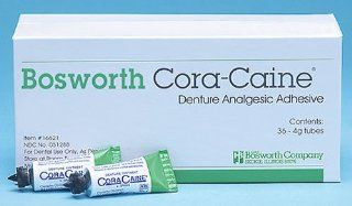 Bosworth Cora caine   Denture Pain relieving Adhesive Ointment   set 4 boxes Health & Personal Care