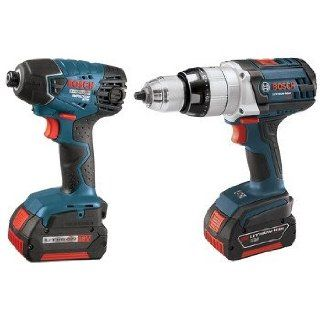Factory Reconditioned Bosch CLPK221 181 RT 18V Cordless Lithium Ion 1/2 in. Hammer Drill and Impact Driver Combo Kit   Power Tool Combo Packs