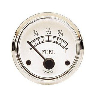 "VDO 301733 Cockpit Royale Style Electrical Fuel Gauge 2 1/16"" Diameter For Select VDO Senders, 10 180 Ohms Automotive"