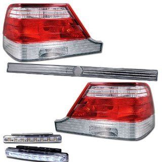 1997 1999 MERCEDES BENZ S320 S420 S500 S600 SEDAN TAIL LIGHTS REAR LAMPS+DRL LED Automotive