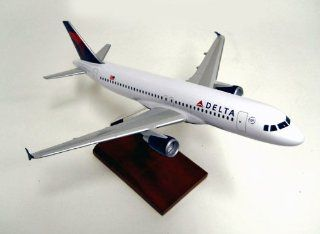 A320 Delta Quality Desktop Model Commercial Plane 1/100 Scale / Unique and Perfect Gift Idea / Museum Quality Handcrafted Commercial Passenger Jet Airliner Replica Display / Collectible Gift Toy Toys & Games