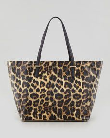 kate spade new york cedar street harmony medium tote bag, leopard print