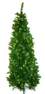 Good Tidings CHTBGS32S175 7 1/2 Feet Tall Brighton Slim Spruce Artificial Prelit Christmas Tree