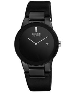 Citizen Mens Eco Drive Axiom Black Leather Strap Watch 40mm AU1065 07E   Watches   Jewelry & Watches