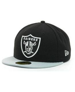 New Era Oakland Raiders NFL Black Team 59FIFTY Cap   Sports Fan Shop By Lids   Men