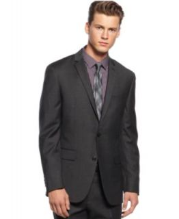 Bar III Suit Separates, Charcoal Checked Pants Slim Fit   Pants   Men