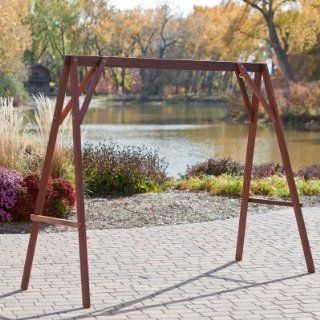 Porch Swing Wood Porch Swing Stand  Patio, Lawn & Garden