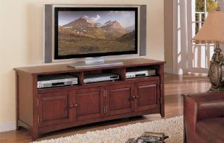 Inland Empire Furniture Cherry Solid Wood TV Stand with Cabinets   Television Stands