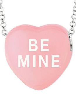 Sweethearts Sterling Silver Necklace, Pink Be Mine Heart Pendant   Necklaces   Jewelry & Watches