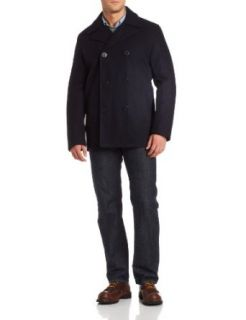 Tommy Hilfiger Men's Classic Peacoat at  Men�s Clothing store Wool Outerwear Coats