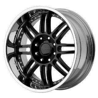 "KMC Wheels Backseat KM125 Gloss Black Wheel with Machined Lip (20x9""/8x165.1mm) Automotive"