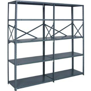 Quantum Heavy Duty 20 Gauge Industrial Steel Shelving   6 Shelves, 36in.W x 1
