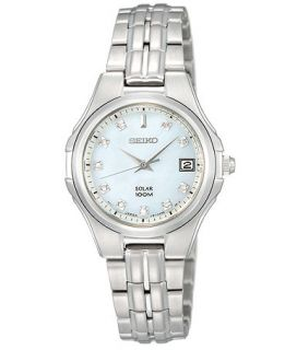Seiko Watch, Womens Solar Diamond Accent Stainless Steel Bracelet 23mm SUT051   Watches   Jewelry & Watches