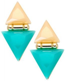 Bar III Gold Tone Black Pyramid Stud Earrings   Fashion Jewelry   Jewelry & Watches