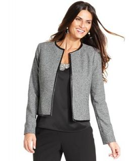 Anne Klein Jacket, Faux Leather Trim Bolero   Jackets & Blazers   Women
