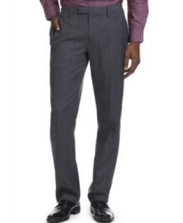 Kenneth Cole Reaction Dress Pants, Slim Fit Mini Windowpane   Pants   Men