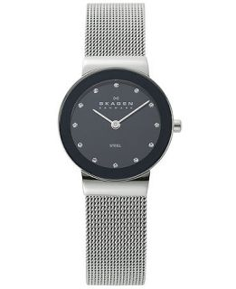 Skagen Denmark Watch, Womens Stainless Steel Mesh Bracelet 358SSSBD   Watches   Jewelry & Watches