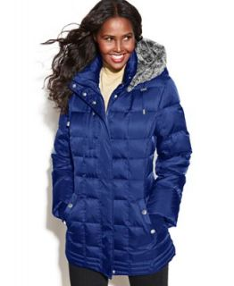 Nautica Hooded Faux Fur Quilted Puffer Coat   Coats   Women
