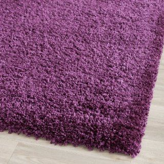 Safavieh Shag Collection SG151 7373 Purple Shag Round Area Rug, 6 Feet 7 Inch Round