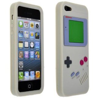 Grey Game Console Style Silicone Cover Case For Apple iPhone 5 5G Cell Phones & Accessories