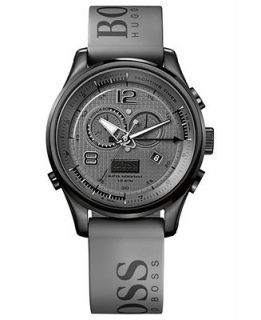 Hugo Boss Watch, Mens Chronograph Gray Rubber Strap 46mm HB2012 1512800   Watches   Jewelry & Watches