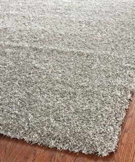 Safavieh Shag Collection SG151 7575 Silver Shag Area Rug, 6 Feet 7 Inch by 9 Feet 6 Inch   Shag Carpets