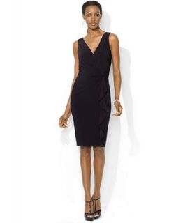 Lauren Ralph Lauren Sleeveless Side Twist Dress   Dresses   Women
