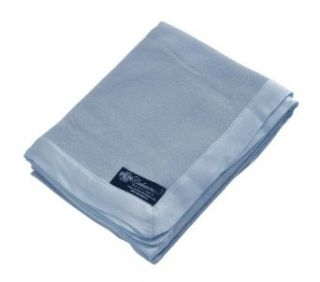 "Pure Cashmere Baby Blanket (Baby Blue, 36"" x 44"") Clothing"