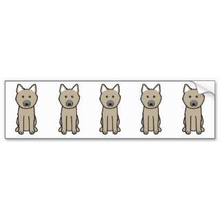 Norwegian Buhund Dog Cartoon Bumper Sticker