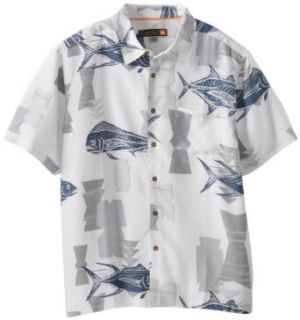 Quiksilver Waterman Men's Tiava Cove, White, XX Large at  Men�s Clothing store Button Down Shirts