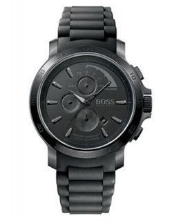 Hugo Boss Watch, Mens Black Silicone Strap 1512393   Watches   Jewelry & Watches