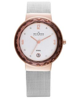 Skagen Denmark Watch, Womens Stainless Steel Mesh Bracelet 35mm 456LRS   A Exclusive   Watches   Jewelry & Watches