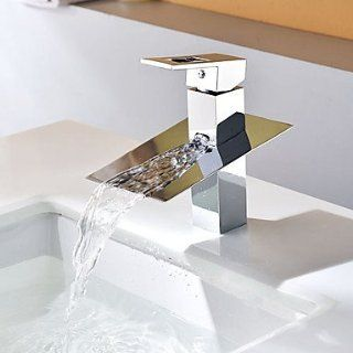 Contemporary Waterfall Chrome Single Handle Bathroom Sink Faucet   Touch On Bathroom Sink Faucets