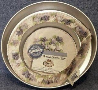 Wilton Cake Pan Double Tier Round (2105 1400, 1986) Novelty Cake Pans Kitchen & Dining