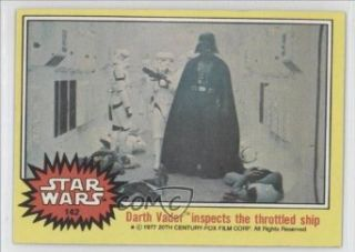 Darth Vader inspects the throttled ship (Trading Card) 1977 Star Wars #142 Entertainment Collectibles