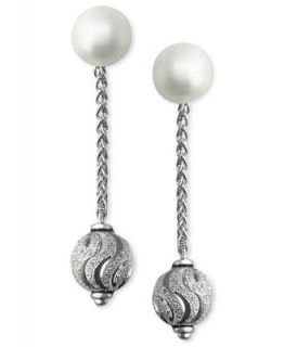 EFFY Cultured Freshwater Pearl and Bead Drop Earrings in Sterling Silver   Earrings   Jewelry & Watches