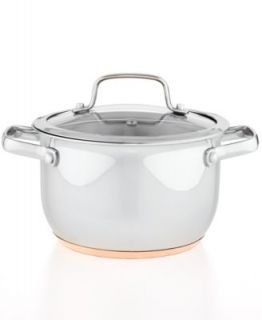 Martha Stewart Collection Copper Accent 8 Qt. Covered Stockpot   Cookware   Kitchen