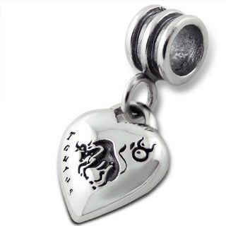 Taurus Zodiac Star Sign Charm Bead Dangle 925 Sterling Silver Fits Pandora Charm Bracelet inBLISS Jewelry
