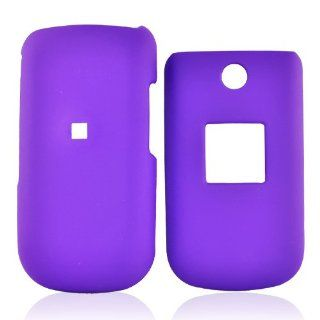 for Samsung T139 Rubberized Hard Case Cover Purple Cell Phones & Accessories