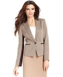 Anne Klein Printed Mixed Media Blazer   Jackets & Blazers   Women