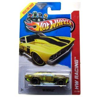 Hot Wheels 2013 Hw Racing '69 Chevelle Translucent Yellow 137/250 Toys & Games