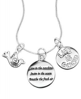 Inspirational Sterling Silver Necklace, Inspirational Charm Pendant   Necklaces   Jewelry & Watches