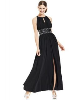 R&M Richards Petite Dress, Sleeveless Beaded Evening Gown   Dresses   Women