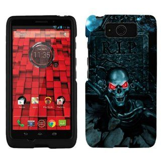 Motorola Droid Ultra Maxx Red Eye Skull from the grave Phone Case Cover Cell Phones & Accessories