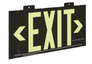 Glo Brite 7001 8.25 by 15.25 Inch Single Face Wall Mount Eco Exit Sign, Black   Commercial Lighted Exit Signs