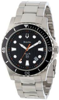 Bulova Men's 98B131 Marine Star Black Dial Bracelet Watch Bulova Watches