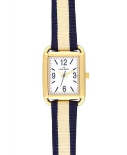 AK Anne Klein Watch, Womens Blue and White Fabric Strap 10 9480WTBW   Watches   Jewelry & Watches