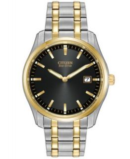 Citizen Mens Eco Drive Two Tone Stainless Steel Bracelet Watch 40mm BM7264 51A   Watches   Jewelry & Watches