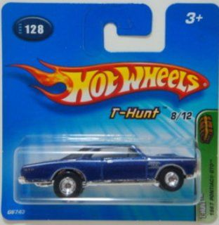Hot Wheels 2005 Treasure Hunt 164 Scale Blue 1967 Pontiac GTO 8/12 Die Cast Car #128 Toys & Games