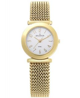 Skagen Denmark Watch, Womens Gold Tone Stainless Steel Mesh Expansion Bracelet 107SGG1   Watches   Jewelry & Watches